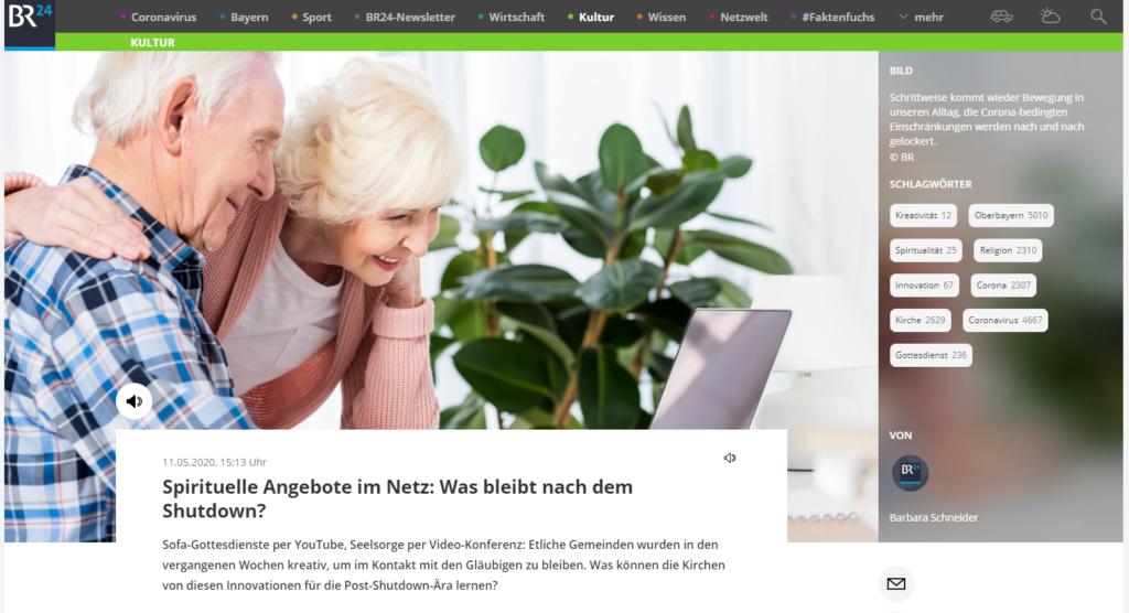 Auf einem Screenshot ist der Audioplayer vom br.de zu sehen.