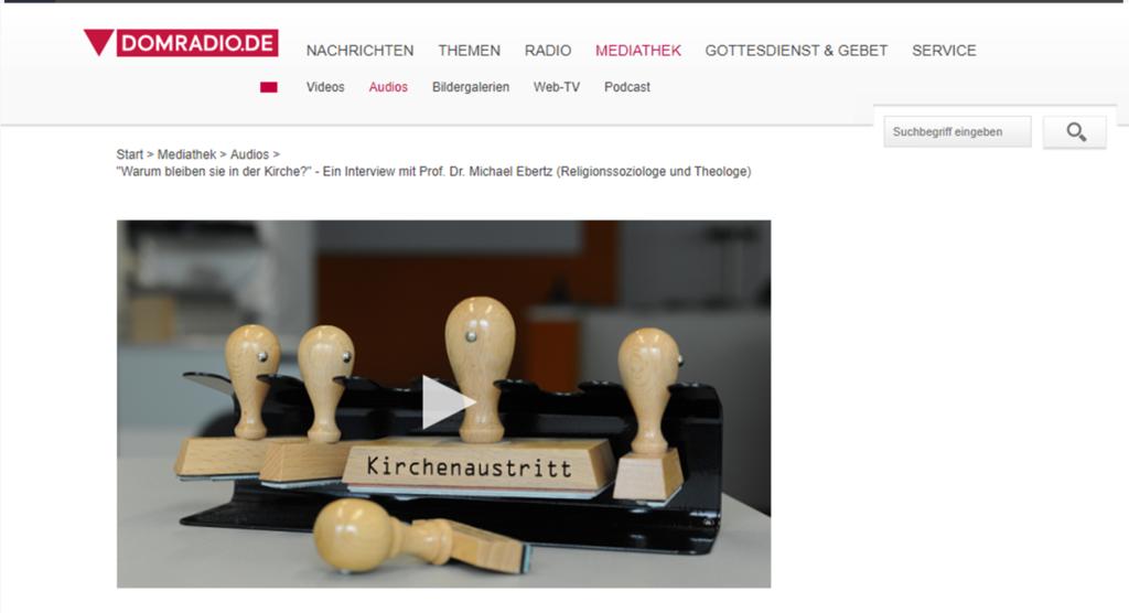 Screenshot von domradio.de