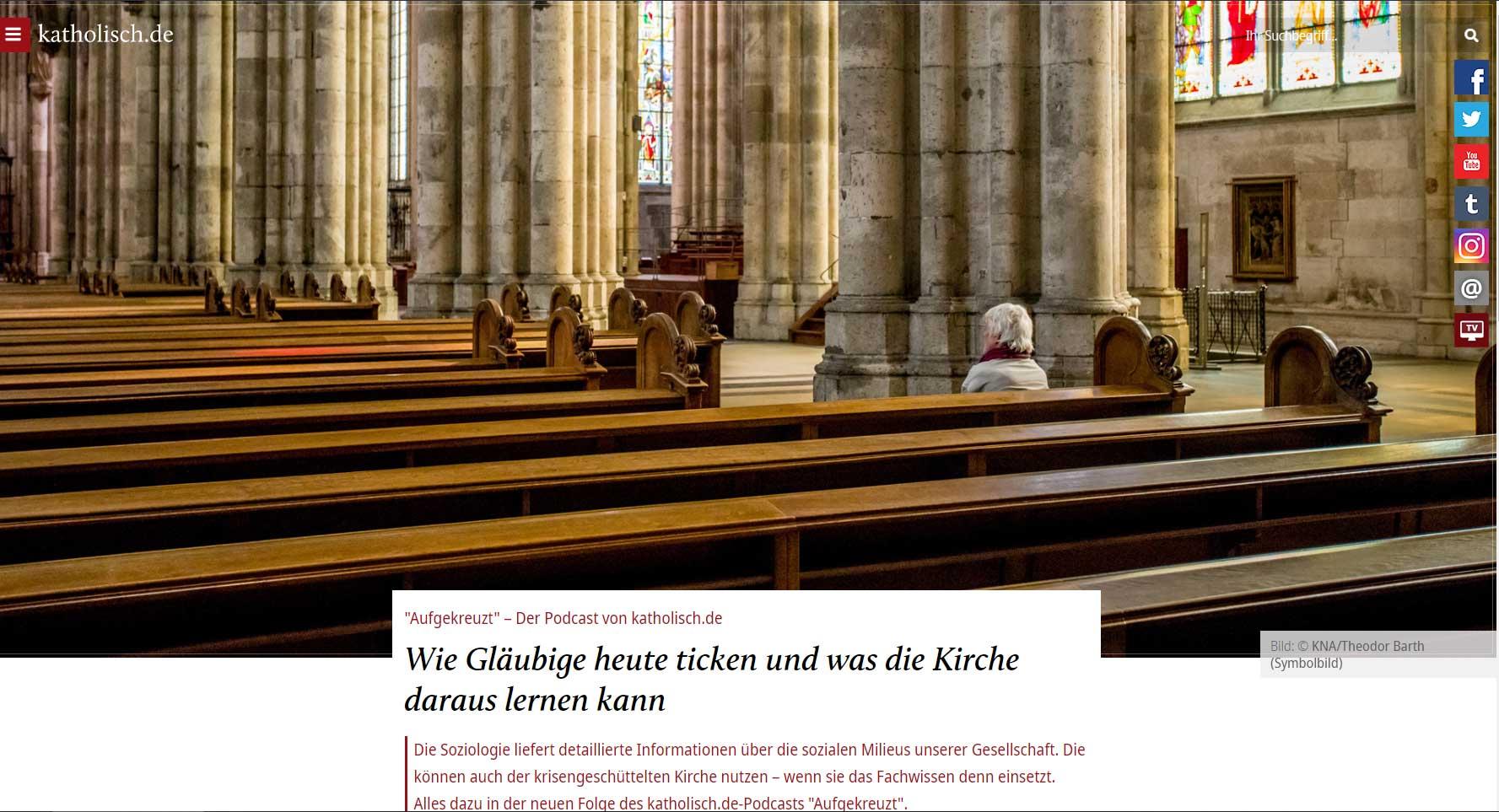 """""""Aufgekreuzt"""" – Der Podcast von katholisch.de"""